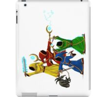 Magicka, team of wizards with small enemy iPad Case/Skin
