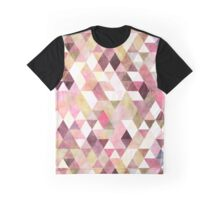 Boho Geometric Triangles Pattern Pastel Watercolor Graphic T-Shirt
