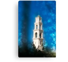 Jaffa, the belfry of the St Peter church and Monastery Canvas Print