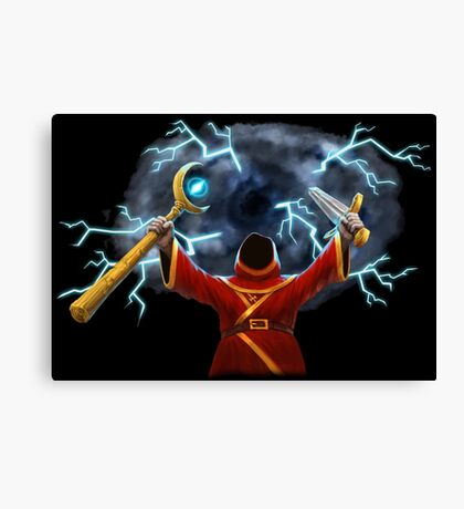 Magicka, Wizard with storm spell Canvas Print