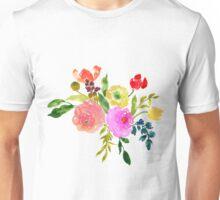 Floral Watercolor, Renunculus Unisex T-Shirt