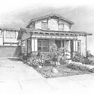house drawing by Mike Theuer