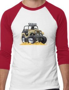 Cartoon Jeep Men's Baseball ¾ T-Shirt
