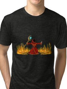 Magicka, Wizard with fire spell Tri-blend T-Shirt