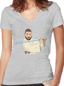 Jedi Khaled Women's Fitted V-Neck T-Shirt