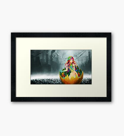 wallpaper girl Framed Print