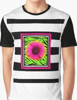 Pink & Green Wild Child Flower Graphic T-Shirt