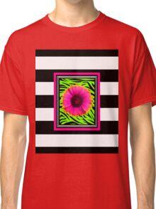 Pink & Green Wild Child Flower Classic T-Shirt