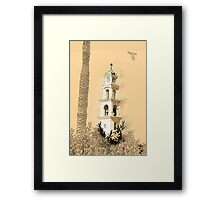 Jaffa, the belfry of the St Peter church and Monastery Framed Print