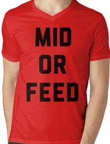 Mid Or Feed Mens V-Neck T-Shirt