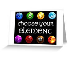 Magicka, choose your element (4x2) Greeting Card