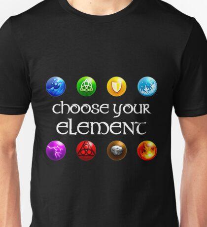 Magicka, choose your element (4x2) Unisex T-Shirt