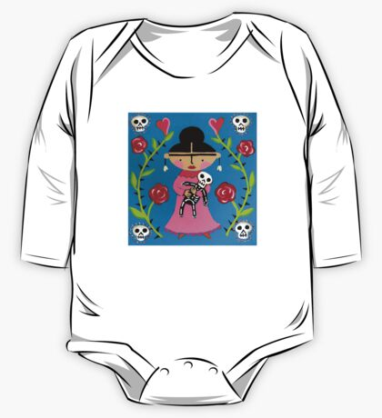 Little Frida and Skelly One Piece - Long Sleeve