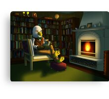 A Library Room Canvas Print