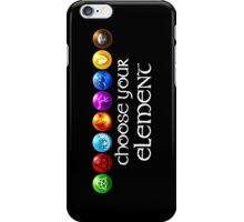 Magicka, choose your element (8x1) iPhone Case/Skin