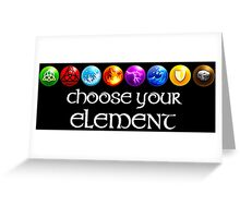 Magicka, choose your element (8x1) Greeting Card