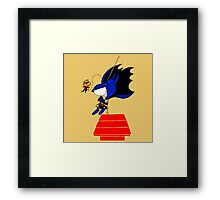 Snoopy Hero Framed Print