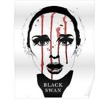 Black Swan Illustration Poster