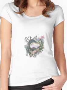 Art Totoro Women's Fitted Scoop T-Shirt