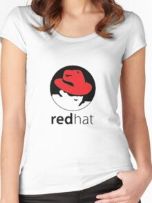 redhat linux Women's Fitted Scoop T-Shirt