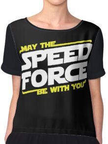 May The Speed Force Be With You Chiffon Top