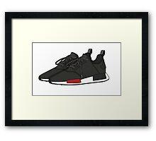 nmd fl black Framed Print