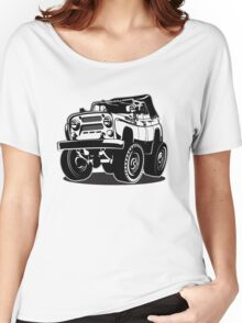 Cartoon jeep Women's Relaxed Fit T-Shirt