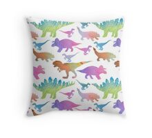 Dinorainbow Throw Pillow