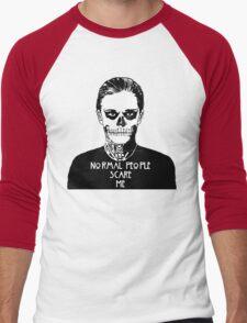 NORMAL PEOPLE SCARE ME Men's Baseball ¾ T-Shirt