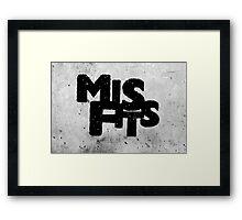 Misfits tv show Framed Print