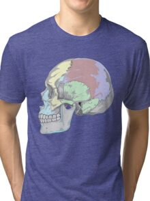 COLORFUL SKULL (POP ART STYLE) Tri-blend T-Shirt
