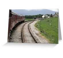 Steam train at Broomhill Greeting Card