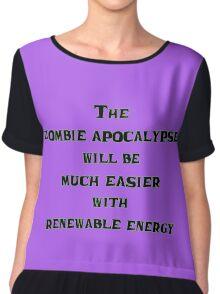 Renewable Energy for the Zombie Apocalypse Chiffon Top
