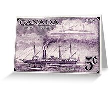 Canada postage stamp, 1951, steamship Greeting Card
