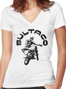 BULTACO Women's Fitted V-Neck T-Shirt
