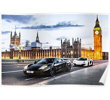 McLaren MP4-12C at London Big Ben  Poster