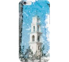 Jaffa, the belfry of the St Peter church and Monastery iPhone Case/Skin