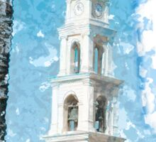 Jaffa, the belfry of the St Peter church and Monastery Sticker