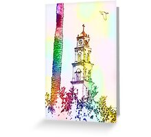 Computer Generated Israel, Jaffa, the belfry of the St Peter church and Monastery Greeting Card