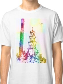 Computer Generated Israel, Jaffa, the belfry of the St Peter church and Monastery Classic T-Shirt