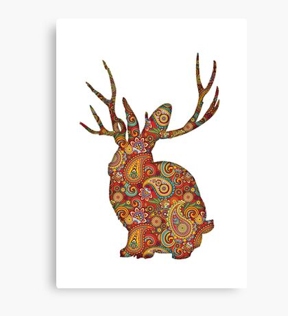 The Paisley Rabbit Canvas Print