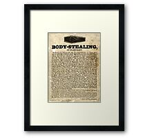 Trial for body stealing at Barnsley and Sheffield, 1829 Framed Print