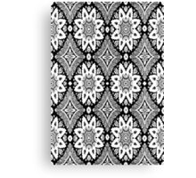 Black and White Lace Canvas Print