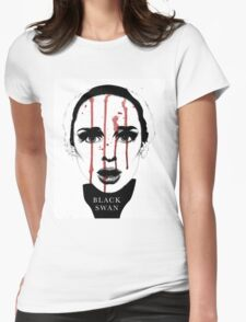 Black Swan Illustration Womens Fitted T-Shirt