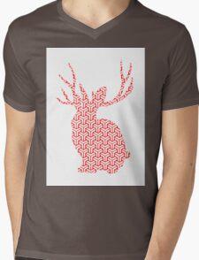The Pattern Rabbit Mens V-Neck T-Shirt