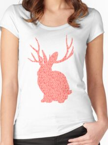 The Brains Rabbit Women's Fitted Scoop T-Shirt