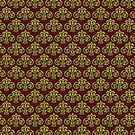 Showland Scroll - red pattern by Carter & Rickard