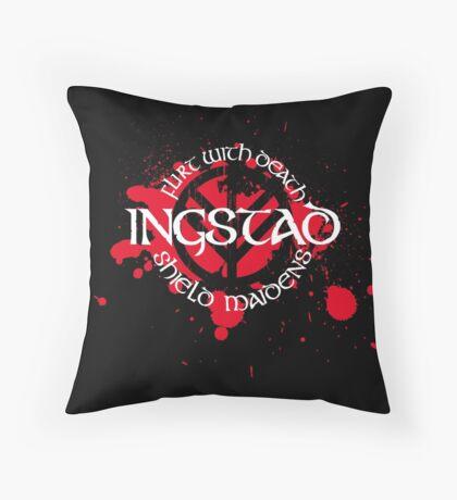 Ingstad Shield Maidens Throw Pillow