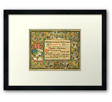 School attendance certificate, Sheffield, Yorkshire, 1885 Framed Print