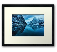 Mirroring The Blue Hour Framed Print